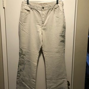 Lauren Jeans size 16. Tan color with cool designs